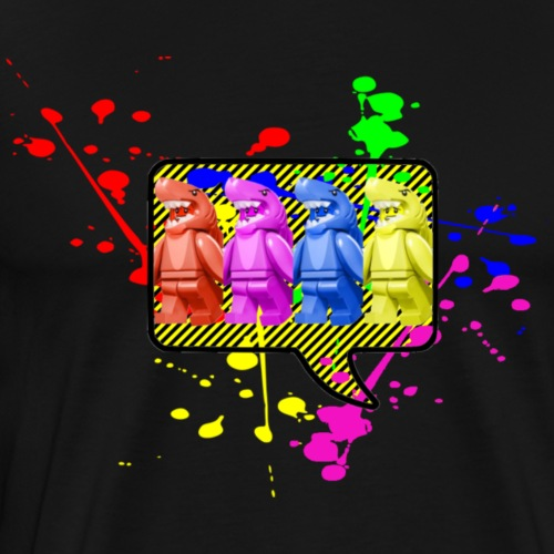 Pop Art Shark Guy - Men's Premium T-Shirt