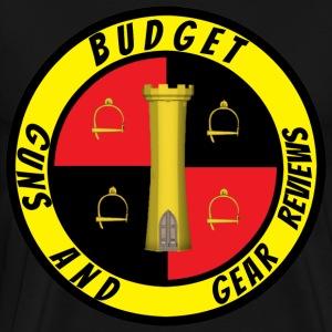 Budget Guns and Gear circle logo - Men's Premium T-Shirt