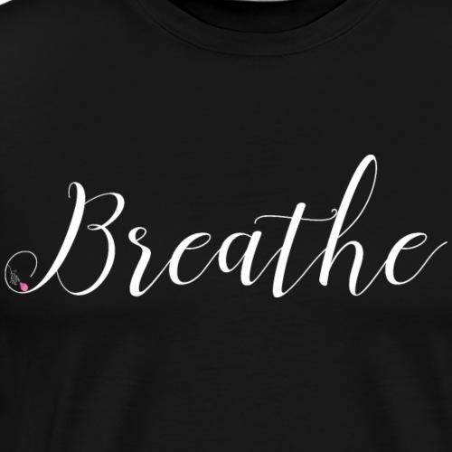 Breathe - White - Men's Premium T-Shirt