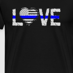 Love - Blue Line - Men's Premium T-Shirt