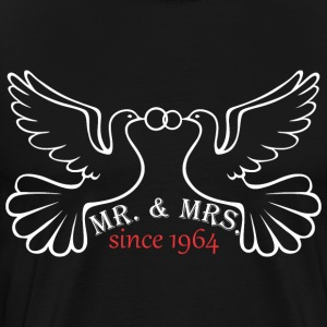 Mr And Mrs Since 1964 Married Marriage Engagement - Men's Premium T-Shirt