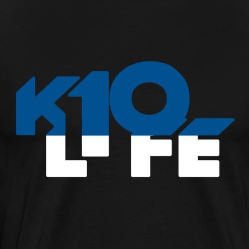 k10life blue and white - Men's Premium T-Shirt