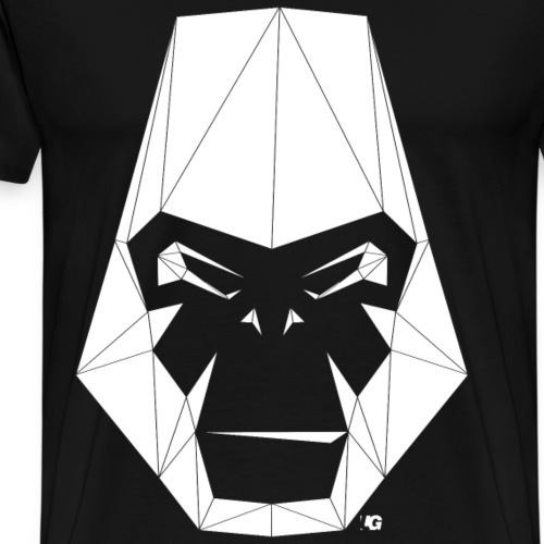 Urban Gorilla Wear Poly logo white - Men's Premium T-Shirt