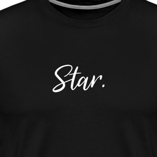 Star - White - Men's Premium T-Shirt