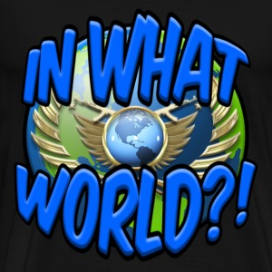 CS:GO IN WHAT WORLD?! - LOGO - Men's Premium T-Shirt