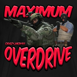 MAXIMUM OVERDRIVE (CRAZYJACK411) - LOGO - Men's Premium T-Shirt