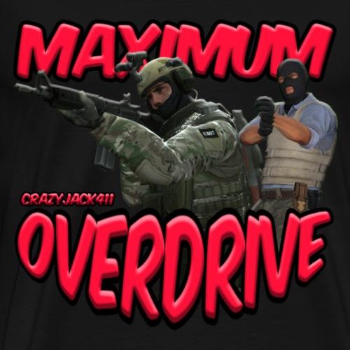 MAXIMUM OVERDRIVE (CRAZYJACK411) - LOGO - Men's Premium T-Shirt