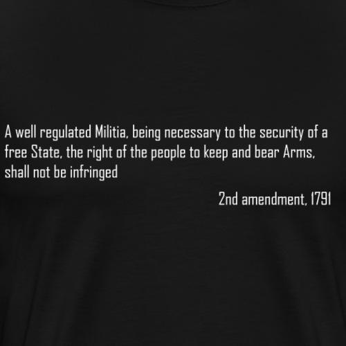 2nd Amendment - Men's Premium T-Shirt