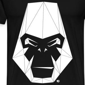 Urban Gorilla Wear Poly logo white - Men's Premium T-Shirt