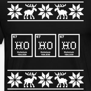 Periodic Table HoHoHo Ugly Christmas Sweater - Men's Premium T-Shirt