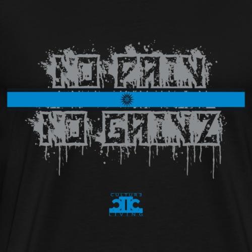 No Pain No Gainz Blue - Men's Premium T-Shirt