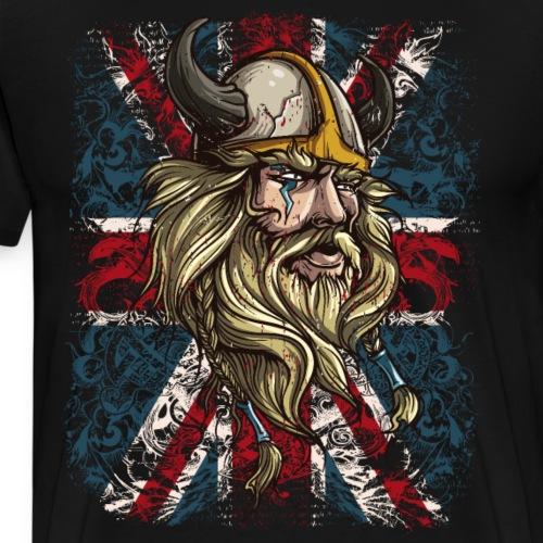 Viking Union Jack Flag - Men's Premium T-Shirt