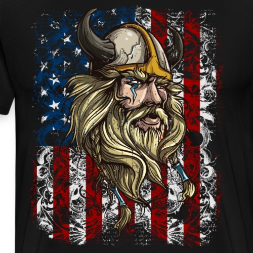 Viking Nordic Warrior American - Men's Premium T-Shirt