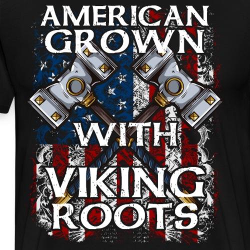 American Grown With Viking Roots - Men's Premium T-Shirt