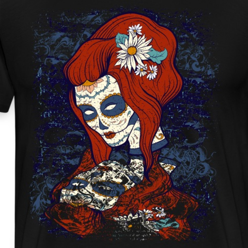 Sugar Skull Woman Day of the Dead - Men's Premium T-Shirt