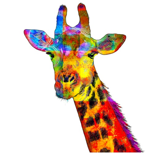 Colorful Giraffe - Men's Premium T-Shirt