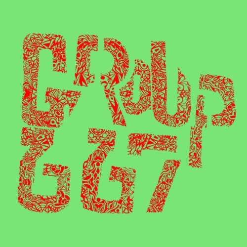 Group667 RED Scribble - Men's Premium T-Shirt