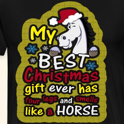 Horse Ugly Christmas Shirts Best Gift Ever Horses - Men's Premium T-Shirt