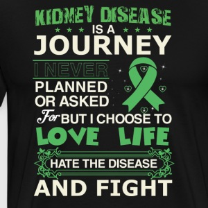 Kidney disease is a journey - Men's Premium T-Shirt