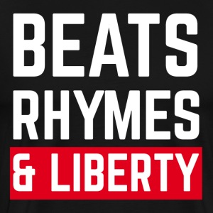 Beats, Rhymes and Liberty (white) - Men's Premium T-Shirt
