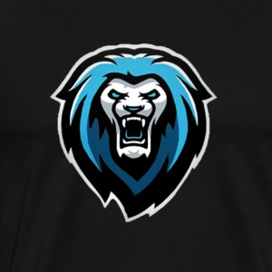 New NvarPlayzGamez Branding!! Cool Animated Lion - Men's Premium T-Shirt