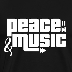 Peace and Music - Music Passion - Men's Premium T-Shirt