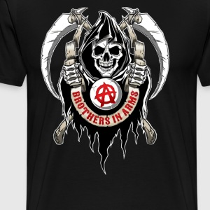 BROTHERS IN ARMS SKULL - Men's Premium T-Shirt