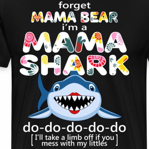 mama shark - Men's Premium T-Shirt