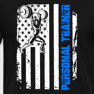 Personal Trainer Flag Shirt - Men's Premium T-Shirt
