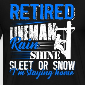Retired Lineman Shirt - Men's Premium T-Shirt