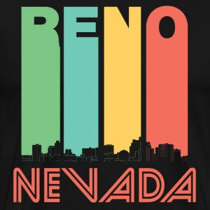 Retro Reno Nevada Skyline - Men's Premium T-Shirt