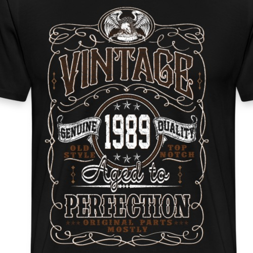 Vintage 1989 Aged To Perfection - Men's Premium T-Shirt