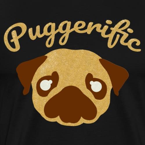 Puggerific Glitter Pug - Men's Premium T-Shirt