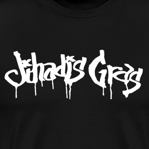 JihadisGras Logo (White) - Men's Premium T-Shirt