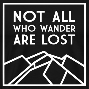 Wander in white - Men's Premium T-Shirt