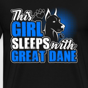 Sleeps With Great Dane Shirt - Men's Premium T-Shirt