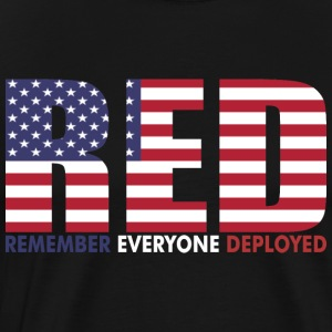 Red Remember Everyone Deployed - Men's Premium T-Shirt