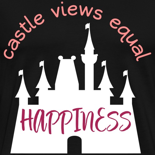 Castle Views Equal Happiness - Men's Premium T-Shirt