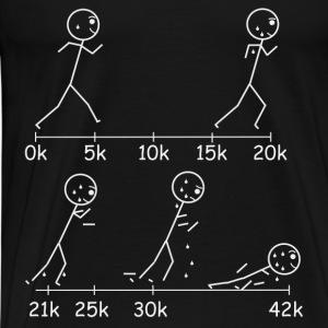 Marathons will take it out of you. - Men's Premium T-Shirt
