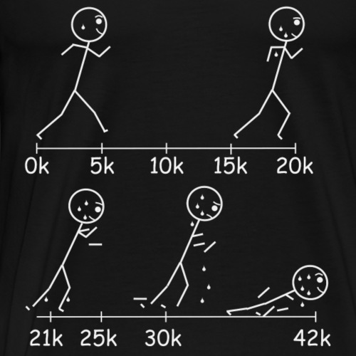 Marathons will take it out of you. - Men's Premium T-Shirt