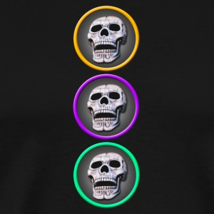 three skulls vertical - Men's Premium T-Shirt