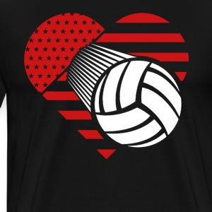 Volleyball Heartbeat T-shirt - Men's Premium T-Shirt