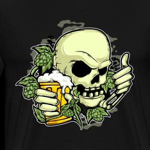 Hop Skull With Beer - Men's Premium T-Shirt