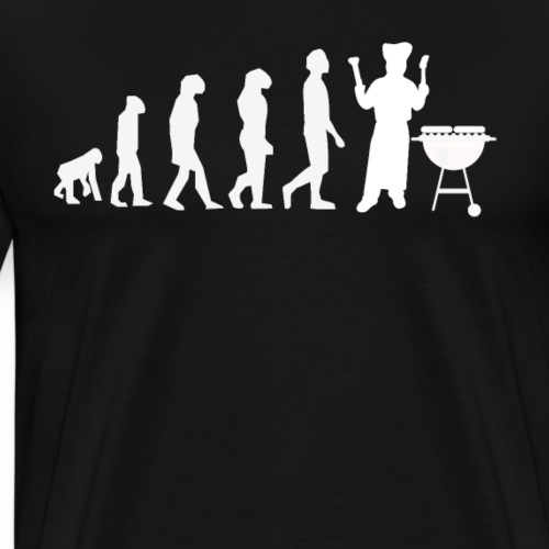 Evolution Of Grilling Funny Barbecue - Men's Premium T-Shirt