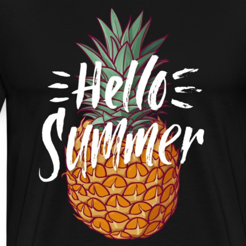 hello summer pineapple - Men's Premium T-Shirt