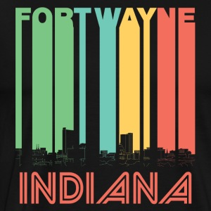 Retro Fort Wayne Indiana Skyline - Men's Premium T-Shirt