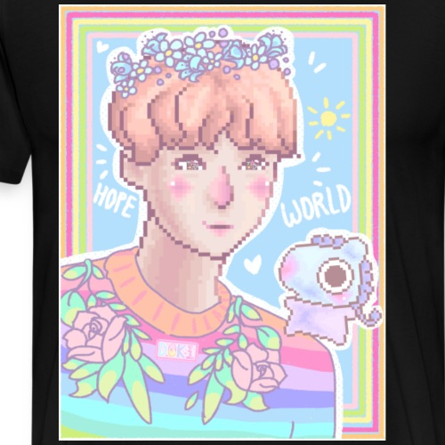 Pixel Sunshine Hobi - Men's Premium T-Shirt