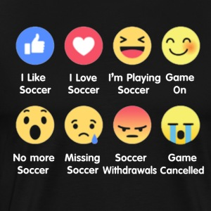 I Love Soccer Emotion Shirt - Men's Premium T-Shirt