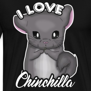 I Love Chinchilla Tee Shirt - Men's Premium T-Shirt