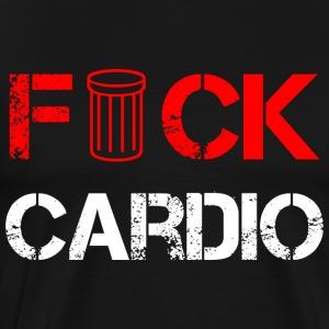 fck cardio white - Men's Premium T-Shirt